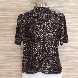 Zara Trafaluc Leopard Top